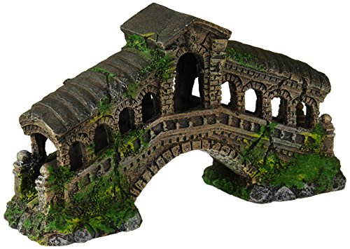 Penn Plax Rialto Bridge Aquarium Ornament - Small - 7L x 3W x 5H in.