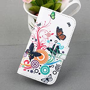 2014 for Motorola Moto G Smartphone Wallet Leather Magnetic Flip Hard Case Cover (White Butterfly)
