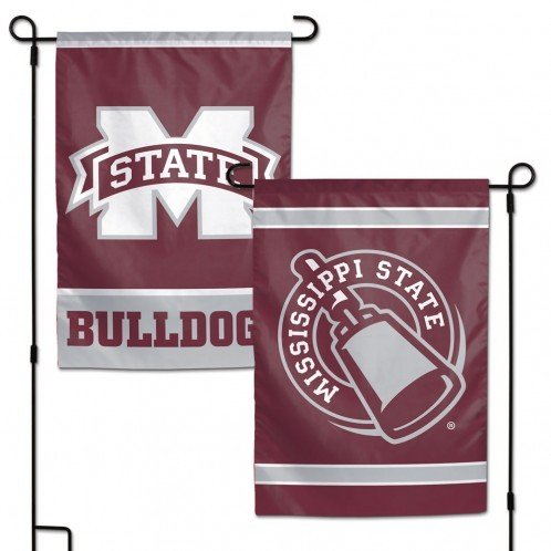 WinCraft NCAA Mississippi State Bulldogs 12x18 Inch 2-Sided Outdoor Garden Flag (Ncaa Garden Decorations)