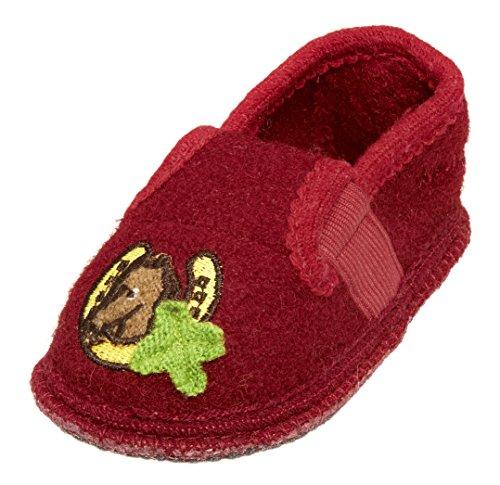 Playshoes Hüttenschuhe, Hausschuhe Pferd - pantuflas de material sintético infantil rojo - Rot (original 900)