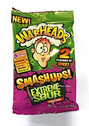 Warheads Smashups Extreme Sour Hard Candy 3.25oz - Sour Candy Hard Warheads
