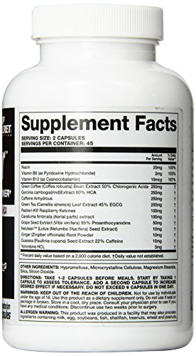 Top Secret Nutrition AB Igniter Thermo Genic Fat Burner Veg Capsules, 90 Count