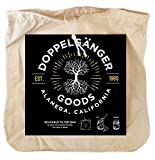 """Organic Cotton Cold Brew Coffee Bag - Designed in California - Extra Large 12""""x12'' Reusable Filter Bags with EasyOpen Drawstring to Make Cold Brew in Pitchers or Mason Jars"""