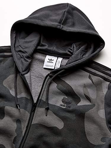 adidas Originals Men's Camo Full-Zip Hooded Sweatshirt