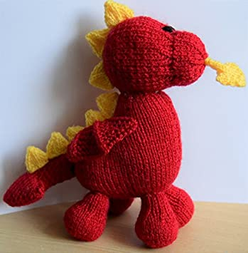Knitting Pattern Dave The Dragon Soft Toy From Knitting By Post