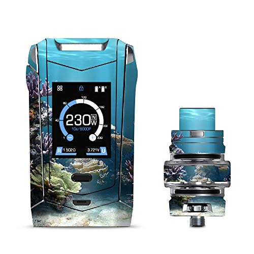IT'S A SKIN Decal Vinyl Wrap Smok Species 230W TFV8 Baby V2 Vape Sticker Sleeve Cover/Under Water Coral Live ()