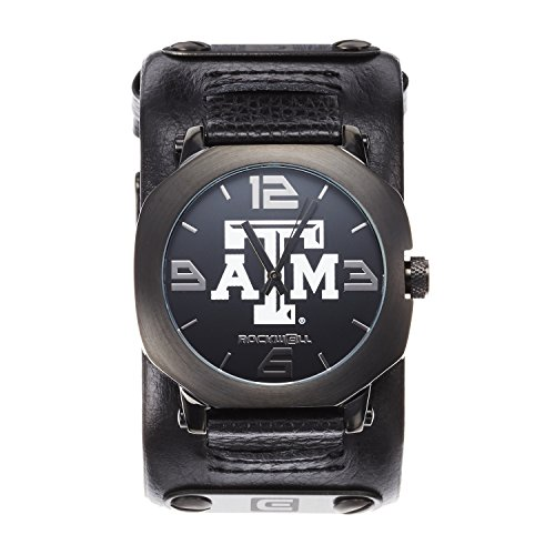 (Rockwell NCAA Texas A&M Aggies Men's Assassin Watch, Adjustable, Black)