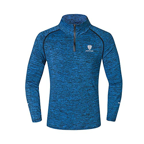 Outdoor Mountaineering Top Men's Fitness Training Running Cycling Clothes Blouse Bodybuilding Tight-Drying Tops Navy