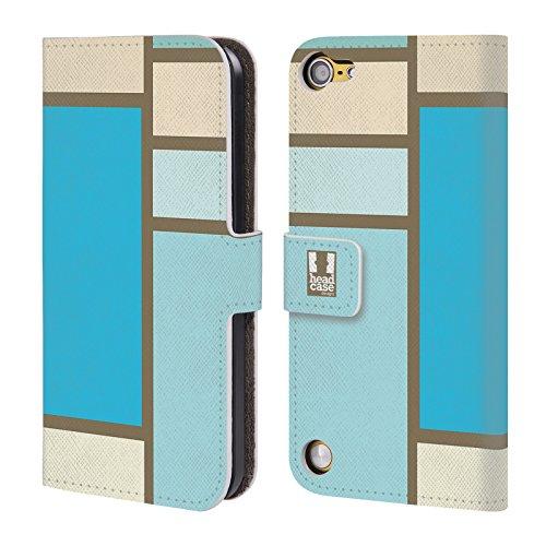 Head Case Designs Mare Tegola Colorata Cover a portafoglio in pelle per iPod Touch 5th Gen / 6th Gen