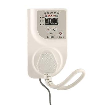 Controlador de temperatura digital con pantalla LCD para termostato de incubadora de reptiles