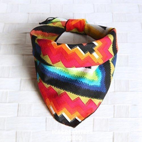 Fiesta - Tie on Classic Pet Bandana Scarf, Pet Fashion Scarf, Dog Bandana Scarf, Cat Bandana Scarf by Icecreamtree Studio