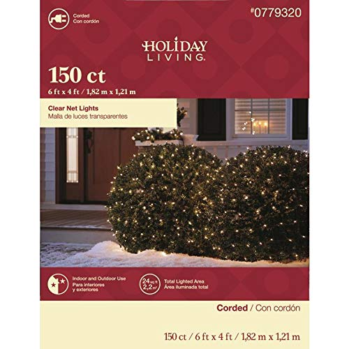Christmas Net Lights Clear 150 ct with Christmas Decoration Ornament Hooks 100 Count
