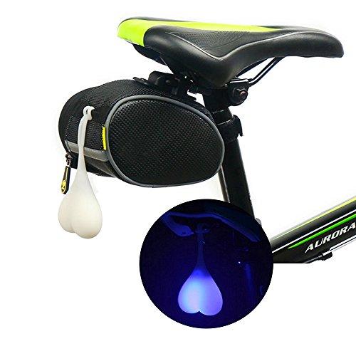 Ultrafun Bicycle Tail Light Balls Waterproof LED Warning Flashing Lamp (Blue)