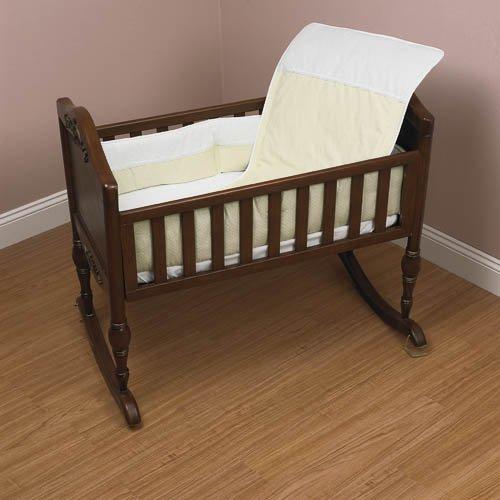 Baby Doll Bedding Kingdom Cradle Bedding Set, Ecru by BabyDoll Bedding