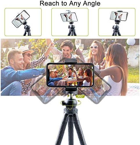 Endurax C/ámara Tr/ípode 153CM Extensible Tr/ípode Tel/éfono de Aluminio Capacidad de Carga 3KG Tr/ípode para Canon//Nikon//iphone con Soporte para Tel/éfono,Control Remoto Bluetooth y Bolsa de transporte