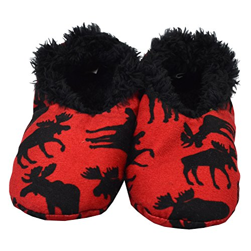 Fuzzy Feet Slippers Ladies Womens LazyOne Moose Fuzzy Feet Fuzzy Slippers Plush Soft by Classic House OYaOvH6