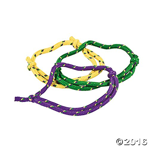 Fun Express Mardi Gras Party Favors Rope Friendship Bracelets