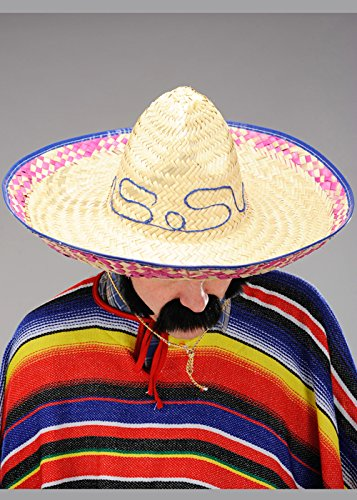 1e465b1fce0fb Sombrero Sombrero Grande Paja Mexicana  Amazon.es  Juguetes y juegos