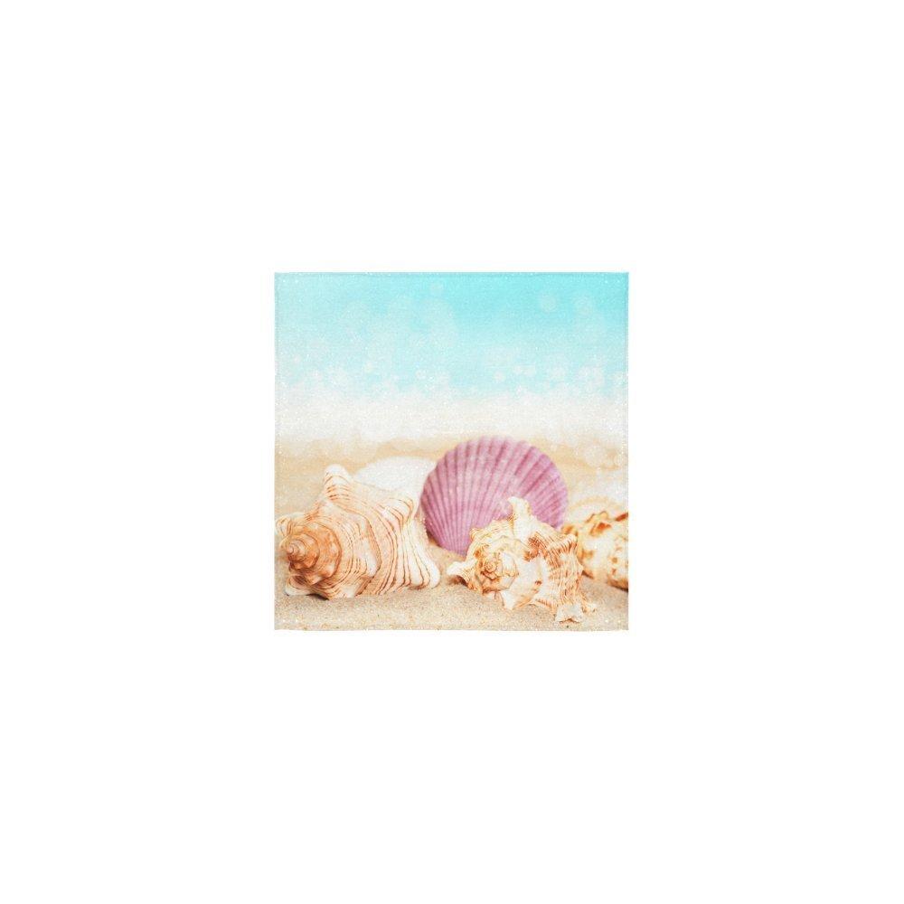 KXMDXA Towel Custom Seashell Starfish Hawaii Beach Seaside Sea Ocean Waves Nautical Washcloth Dish Cloth Bath Towels For Bathroom Kitchen and Travel Use,13x13 inch Square