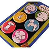 bichon frise silly dog magnet set of 6 - Frise Vinyle