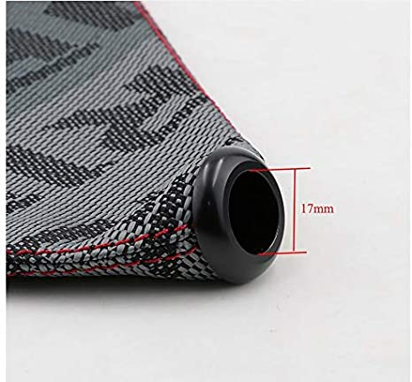 Style Bride Canvas Shift Boot Lever Knob Cover Racing Shift Knob Collars for Universal Car With Red Stitching