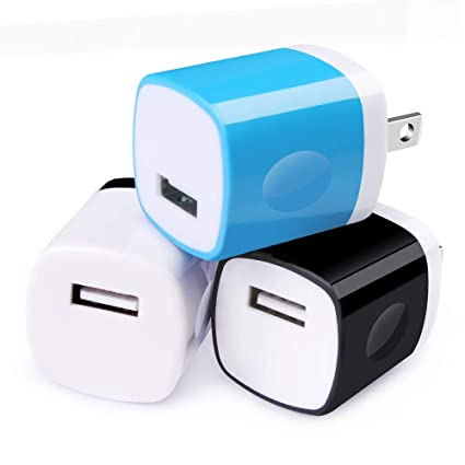 Amazon.com: Cargador de pared USB, enchufe de carga USB ...