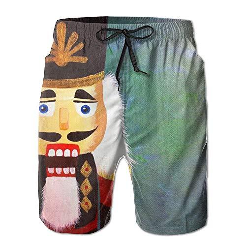 Man Nutcracker - Nutcracker Men Shorts 100% Polyester Elastic Comfortable Not Shrink Beach Shorts Men Shorts White