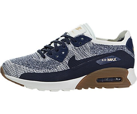 Nike Women's Air Max 90 Ultra 2.0 Flyknit, College Navy / College Navy, 8 B(M) US (Nike Womens Basketball College)