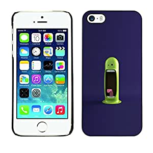 CASEX Cases / Apple Iphone 5 / 5S / Funny Green Monster # / Delgado Negro Plástico caso cubierta Shell Armor Funda Case Cover Slim Armor Defender