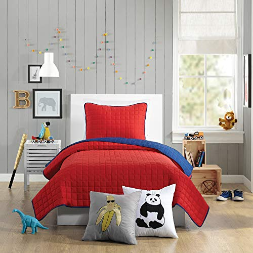 Urban Playground AYER QUILT SET TWIN RED