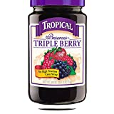 Tropical Preserves, Triple Berry, 18 Ounce (Pack of 12)