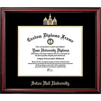 Amazon Com Seton Hall University Official Diploma Frame
