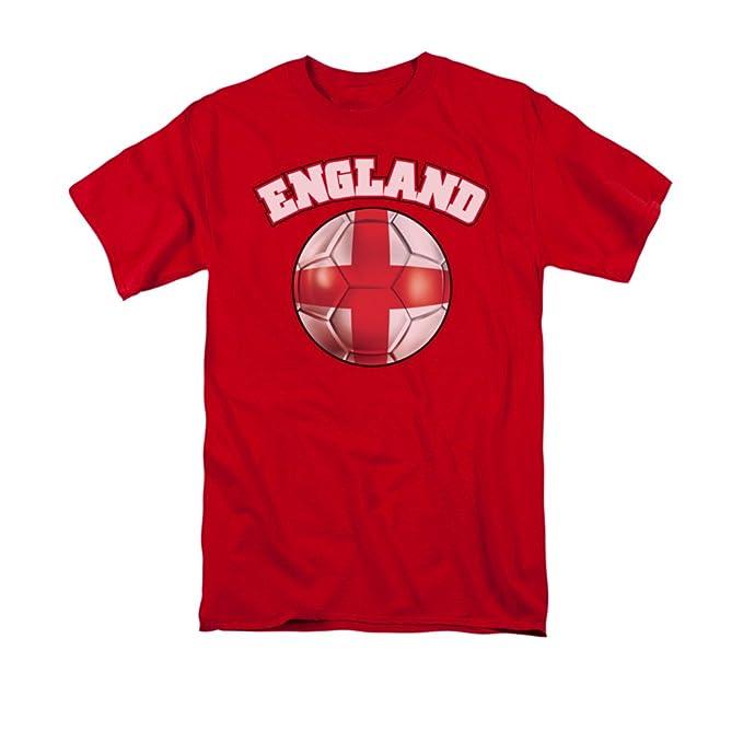Diseño de Inglaterra bandera de balón de fútbol adultos camiseta
