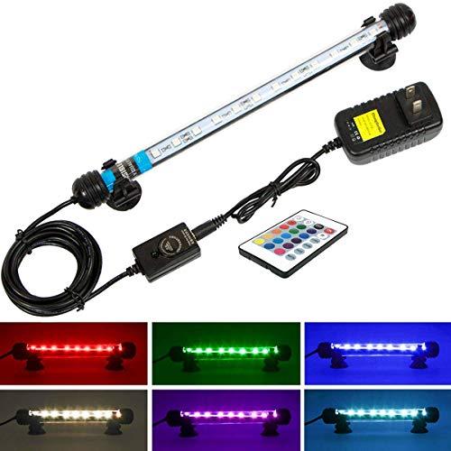 Mingdak LED Aquarium Light for Fish Tanks,12 LEDs,11-inch,RGB Color