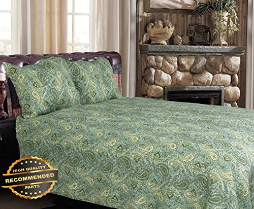 Werrox Green Persian 100% Cotton 3-Piece Quilt Set, Bedspread, Coverlet King Size | Quilt Style QLTR-291267898