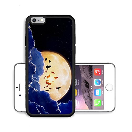 Liili Premium Apple iPhone 6 Plus iPhone 6S Plus Aluminum Snap Case Night sky with full moon stars flock of flying ravens crows IMAGE ID 18075257 (Month Of The Freezing Moon compare prices)