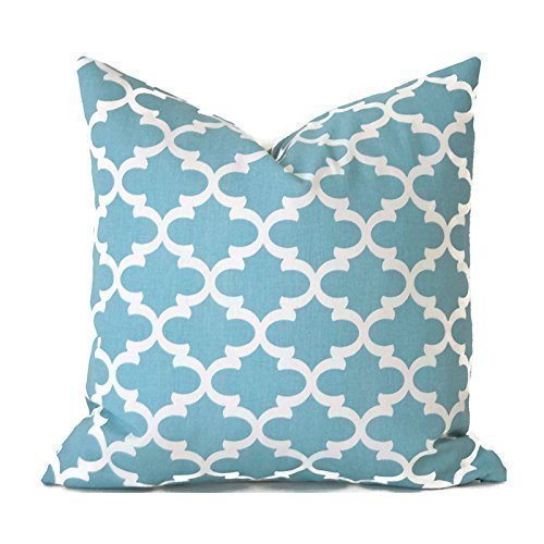 Decorative Throw Pillow Cover Any Size Fulton Blue