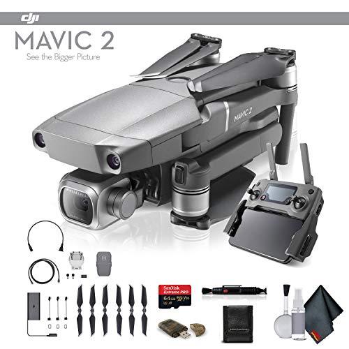 DJI Mavic 2 Pro (CP.MA.00000019.01) 64GB Memory Card, Memory Card Wallet, Cleaning Kit More - Starter Bundle