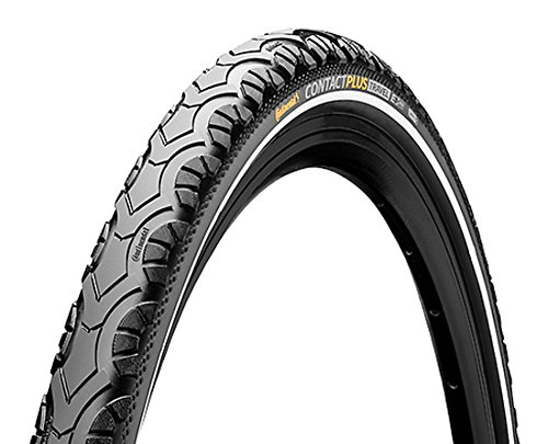 Continental Contact Plus Travel Bike Tire - E-Bike Rated, SafetyPlus Puncture Protection, All Terrain Bicycle Tire (26