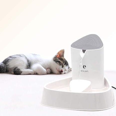GLMAMK Llevó el dispensador de Agua del Animal doméstico de la lámpara, Fuente de Agua Potable silenciosa Inteligente de la circulación eléctrica, ...