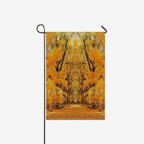 BoloHome Garden Flags Double Side Central Park Autumn in midtown Manhattan New York City Home House Banner 28x40inch, Decorative Flag for Party Yard Home Outdoor Decor, 100% Polyester -