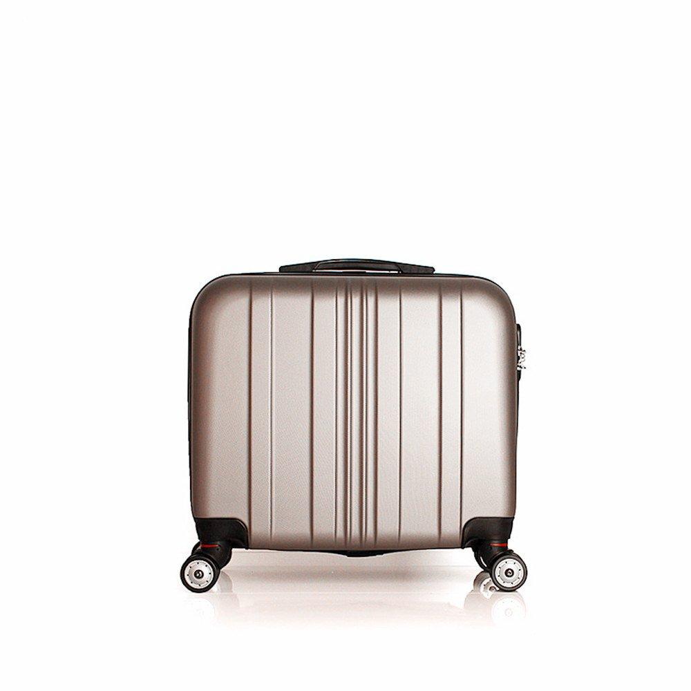 サイレントスーツケース 短い旅行のために便利なメンズブリーフケースのための360°サイレントユニバーサルホイール16インチビジネスチェックインボックス。 B07V3YL5YD