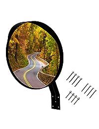 Espejo convexo de 12.0 in, gran ángulo de visión, calidad premium, espejo de seguridad curvado para muchos usos. Contiene 3 juegos de tornillos para montar en cualquier superficie.