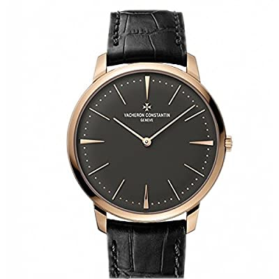 Vacheron Constantin Patrimony Grey Dial 18k Pink Gold Manual Mens Watch 81180000R-9162