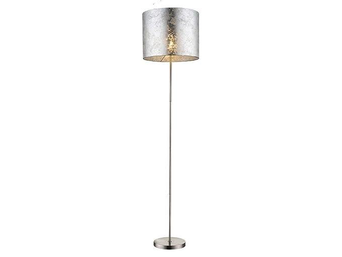 Lámpara de pie de diseño Amy I con E27 LED, pantalla de tela ...