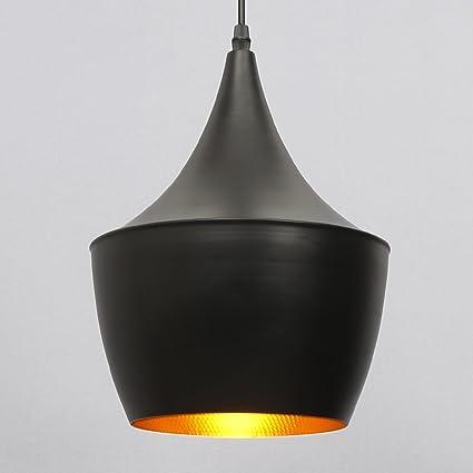 E27 Moderna Industrial Iluminación Colgante Vintage Colgando de Lámpara Metal Pantallas de Iluminación, Metal Retro LED Lámpara de Techo para Loft ...