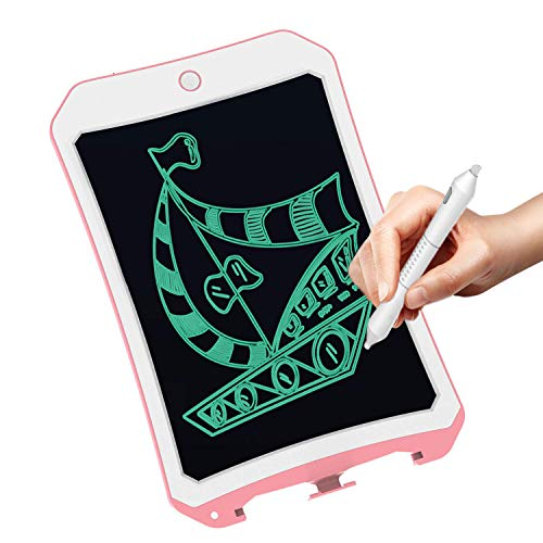 8.5 Inch Writing &Drawing Board Doodle Board Toys for Kids, Meet sun Birthday Gift for 4-5 Years Old Kids & Adults LCD Writing Tablet with Stylus Smart Paper for Drawing Writer (DS-Pink-White)