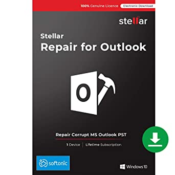 Stellar Repair for Outlook Software | Professional | Repair Corrupt PST  Files, Recover Deleted Emails | 1 Device, Lifetime Licence | Instant  Download