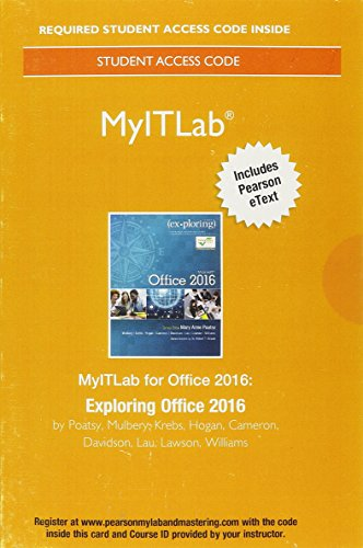 Pdf Technology MyITLab with Pearson eText--Access Card--for Exploring Microsoft Office 2016