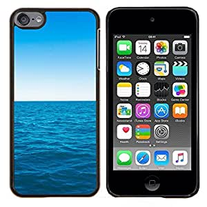 Caucho caso de Shell duro de la cubierta de accesorios de protección BY RAYDREAMMM - Apple iPod Touch 6 6th Touch6 - Azul océano y el cielo